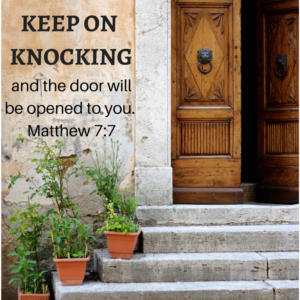 KEEP ON KNOCKING