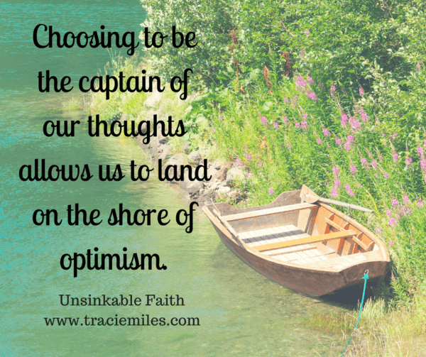 Choosing to be the captian of our thoughts allows us to land