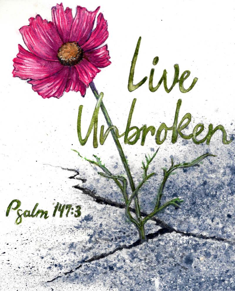 living-unbroken-print